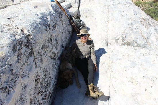 Ramah, Nuevo Mexico: My partners resting on the trail