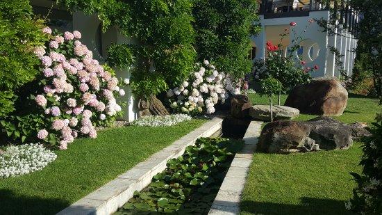Jardin fleuri avec bassin de nénuphars - Bild von Giardino Marling ...