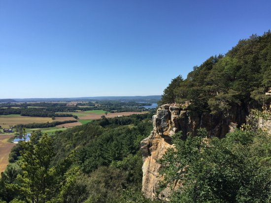 Beautiful day at Gibraltar Rock near Lodi, WI