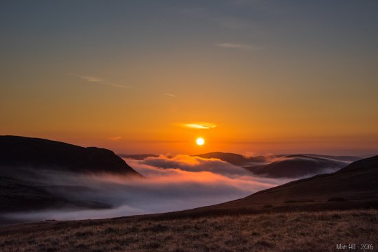 Creative Photography Wales: Sun rising over Elan Valley in mid Wales