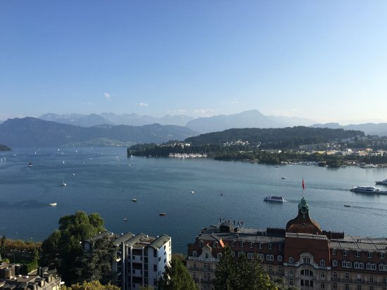 Art Deco Hotel Montana Luzern: View from our window