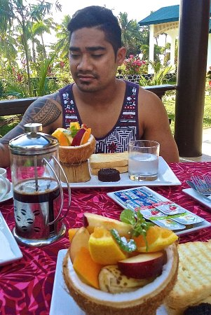 Amoa Resort: Breakfast comes free