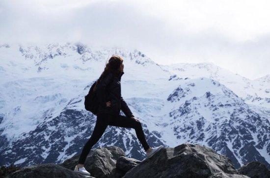 Aoraki Mount Cook National Park (Te Wahipounamu), Νέα Ζηλανδία: 好近個雪山呀