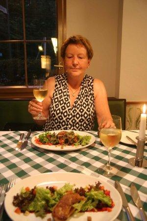 Gasthaus Alte Forsterei: foie gras poêlé aux griottes