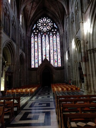 Worcester, UK: Stained Glass window on left as you go in