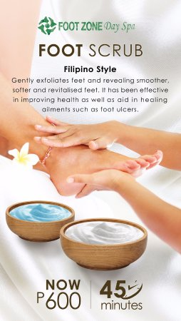 San Juan, Filipinas: No need to look elsewhere because Footzone Day Spa offering its BEST Filipino Style Foot Scrub!