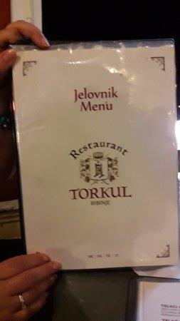 Bibinje, Croácia: menu'