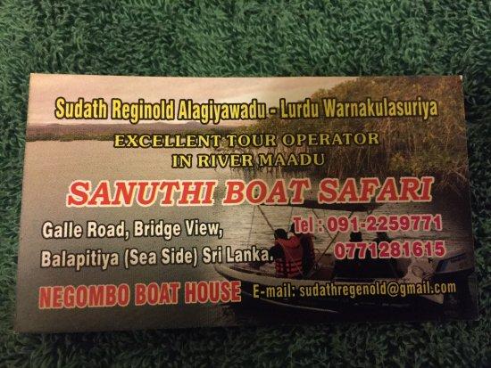Balapitiya, Sri Lanka: 35$ for boat