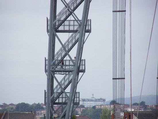 Newport, UK: The short flights of step[s to ascend the bridge