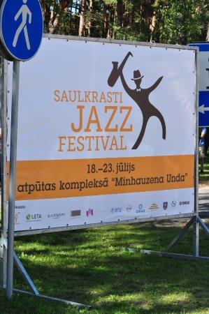 Saulkrasti, Letonia: Реклама около инф.центра