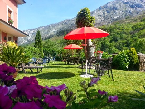 Hotel Rural El Torrejon: El precioso jardín que rodea el hotel y que esta lleno de detalles. Entre picos y junto al rio C