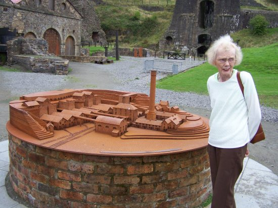 Blaenavon World Heritage Centre: A model of the ironworks.