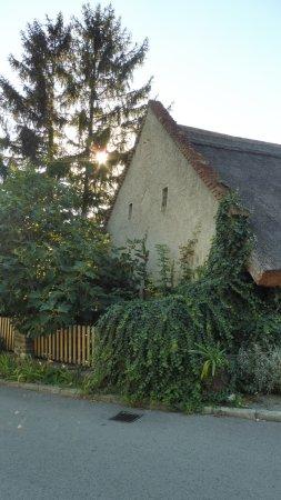 Fachada casa en Tihany