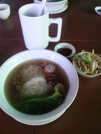 Sisophon, Kambodja: One of the breakfast menu in Kim heng