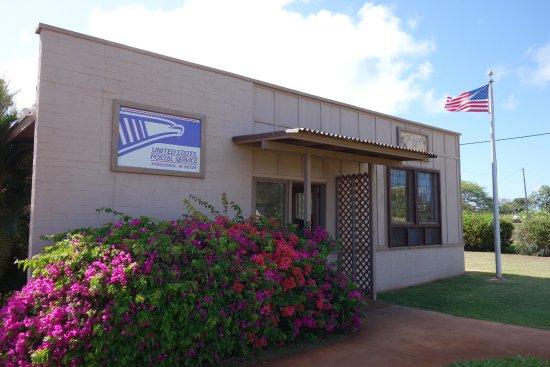 Post-A-Nut, Hoolehua Post Office: ココナッツはホオレフアの郵便局からのみ出せます。