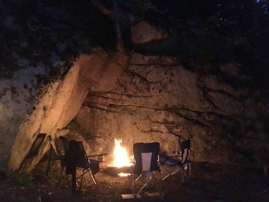 Sagadahoc Bay Campground: campfire on 163