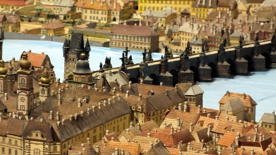Hand painted paper Model of Prague (state at 1836) - Picture of