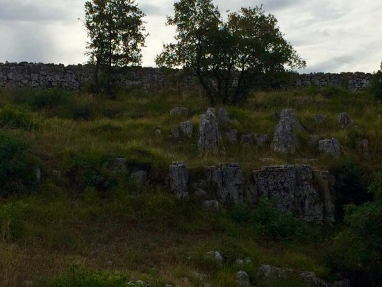 Monkodonja Hill Fort: The area of the deep cave with the Horns of Consecration