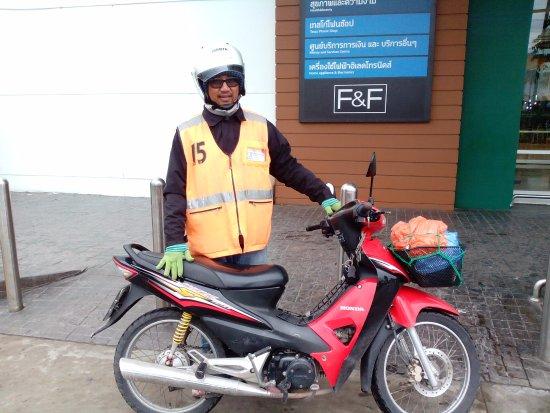 Un mototaxi pour retourner à Mae Sot