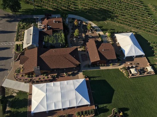 Hillsboro, MO: Aerial view of the grounds courtesy of Balloons Over The Rainbow