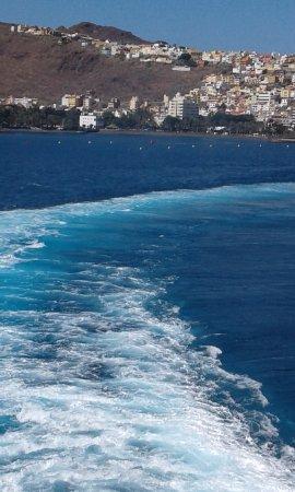 Los Cristianos Harbour: vue du bateau qui va a la Goméra