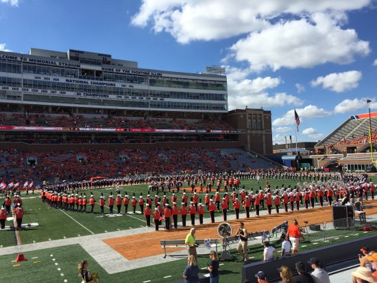 Memorial Stadium: The band on the field