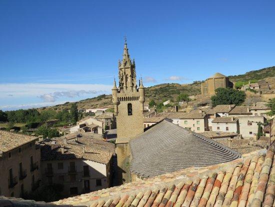 Uncastillo, España: Vista desde la habitación.