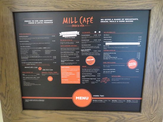 Tillicoultry, UK: menu