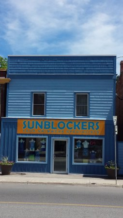 We are located at 23 Queen Street in Lakefield.  Just look for the blue building on the main str