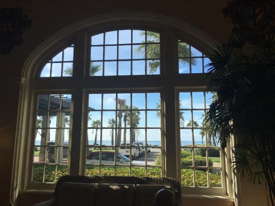 Hotel Galvez & Spa A Wyndham Grand Hotel: View from inside the Music Hall overlooking Galveston Beach