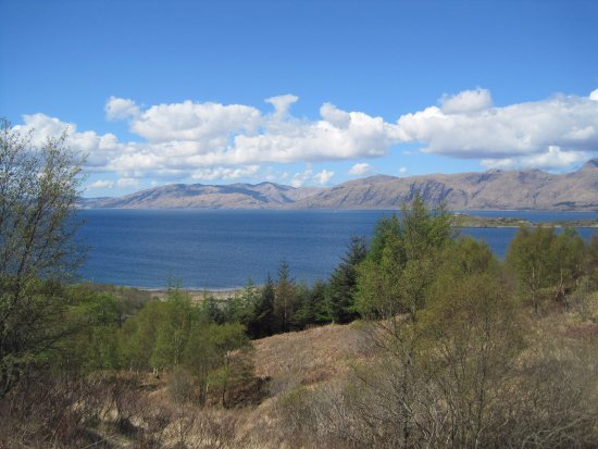 Duror, UK: view of Loch Linnhe from my plot