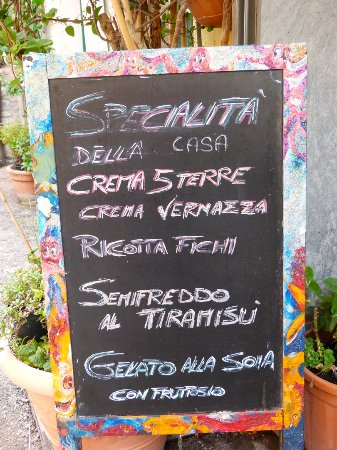 Gelateria Vernazza: Menu