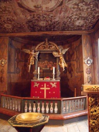Lom, Norveç: Interior de la iglesia