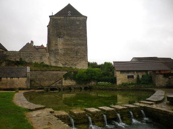 Fondremand, France : Le donjon qui domine la source de la Romaine