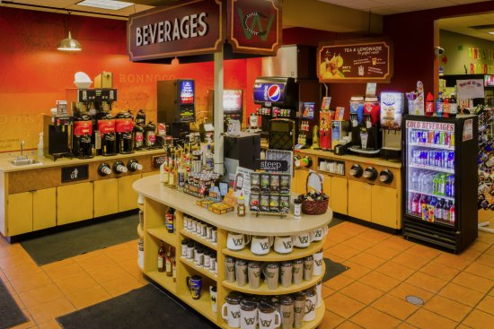 New Beverage Bar at Columbus West Travel Center. Featuring a variety of Rononco Coffees, tea & s