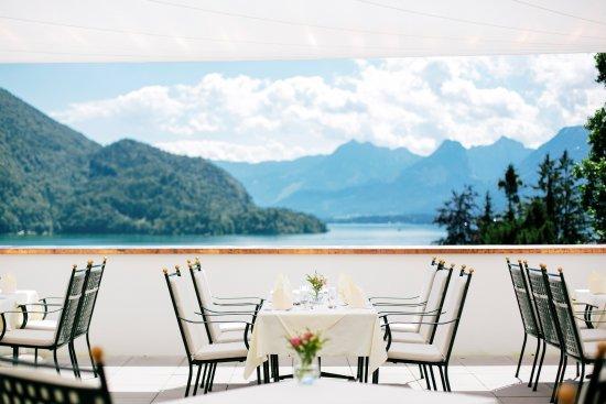 Parkhotel Billroth: Sonnenterrasse mit Seeblick