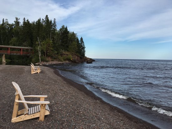 Lutsen, MN: The beach at the Lodge