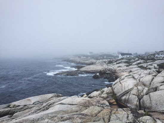 Peggy's Cove Lighthouse: Peggy's cove during the fog.