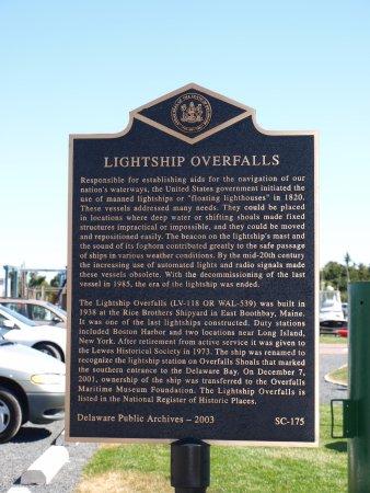 Lightship Overfalls: signage
