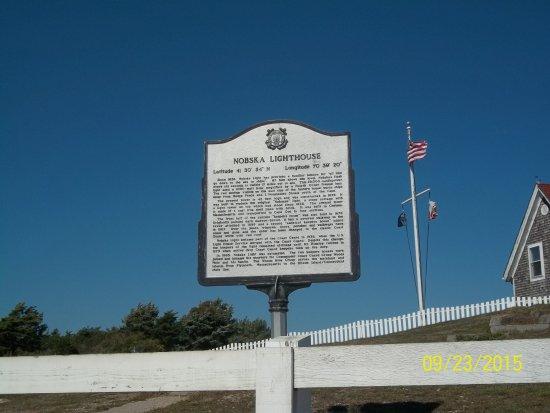 Woods Hole, MA: sign