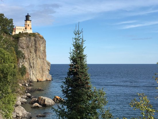 Two Harbors, Minnesota: The lighthouse from the bottom of the steps