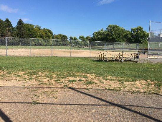 Cobbs Hill Park: Cobb's Hill Park - looking down row of softball fields