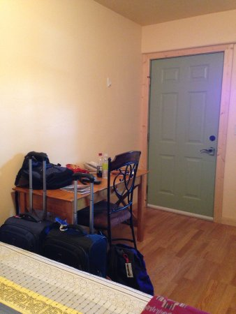 Springer, NM: Desk by entrance door