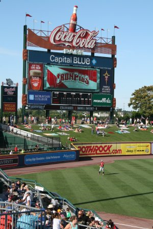 Coca-Cola Park : Center field scoreboard