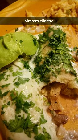 Holts Summit, Μιζούρι: Enchiladas with cilantro added