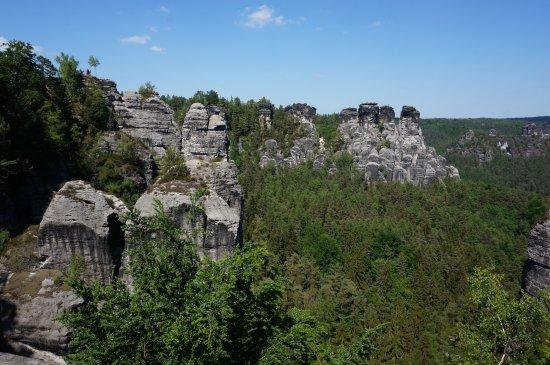 Bastei, เยอรมนี: Скалы Бастай.