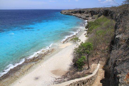 Kralendijk, Bonaire: 1000 steps. Rechts zijn schildpadden te vinden.