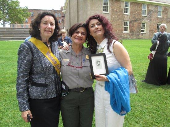 Seneca Falls, NY: Stanton descendant Coline Jenkins, Superintendent Ami Ghazala, Nadia Shahram