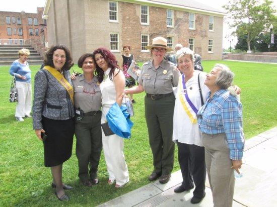 Seneca Falls, NY: Stanton descendant Coline Jenkins, Superintendent Ami Ghazala