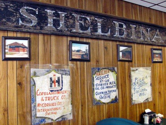 Shelbina, Missouri: Martha's Shelbina, Mo. old signage...c
